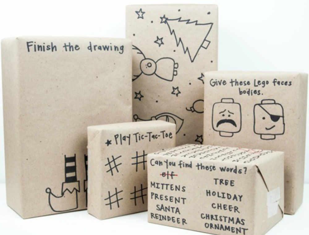 creatief cadeau inpakken